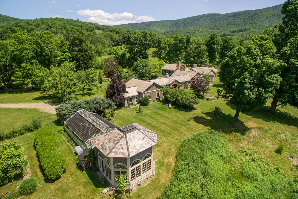 Black Hole Hollow Farm, Vermont, aerial