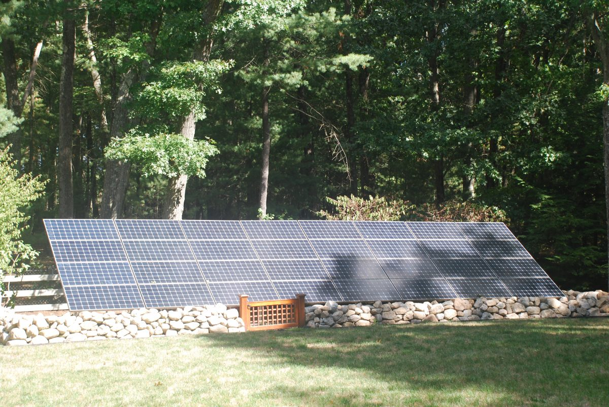 Solar panels, 136 Weston Rd, Lincoln, MA