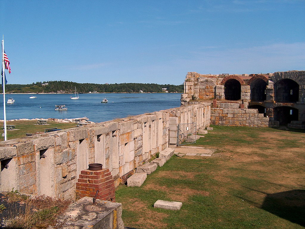 Fort Popham and the Atkins Baycarm of the Kennebec River