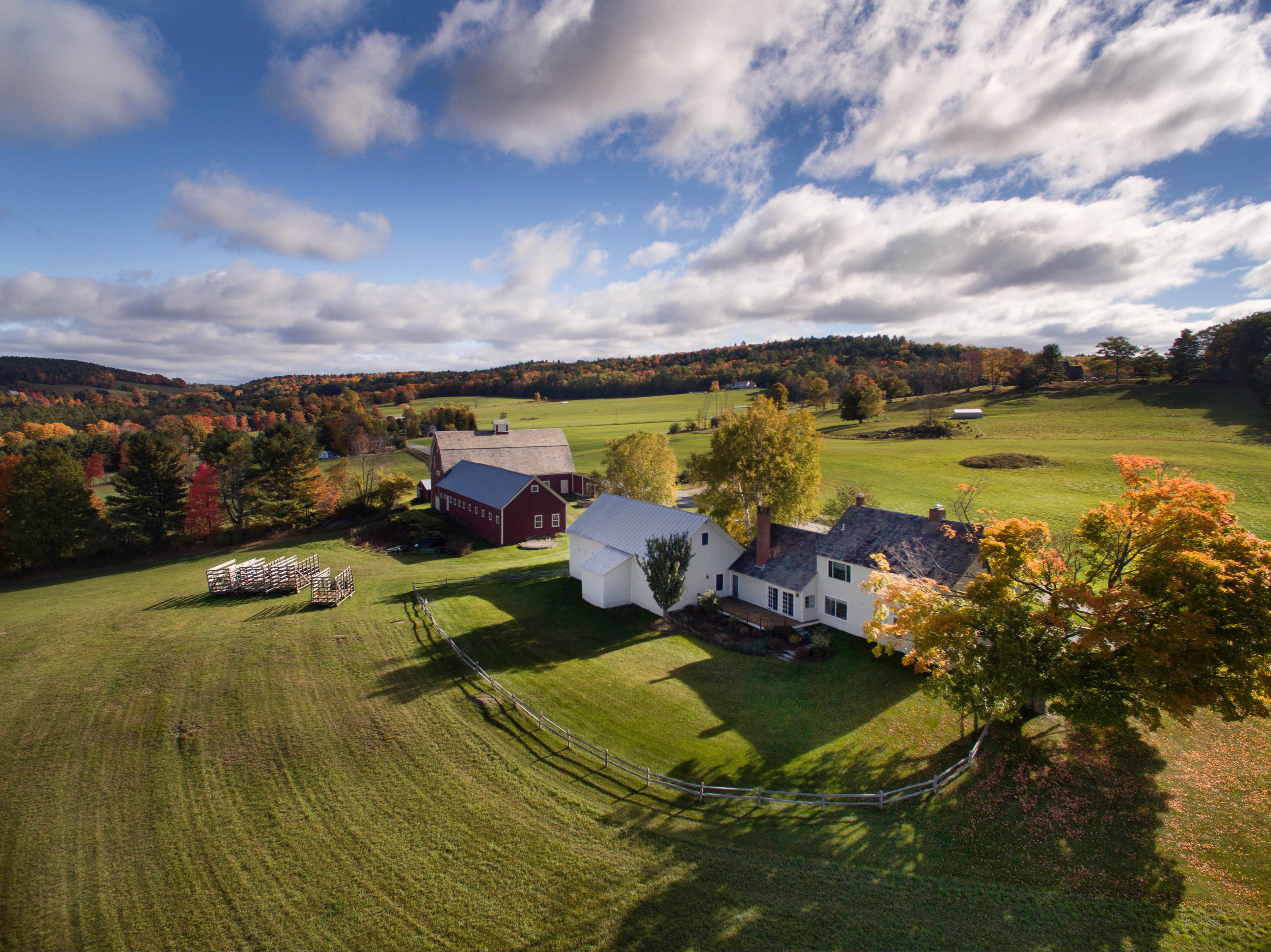 Aerial, Jericho Brook Farm, Hartford, Vermont