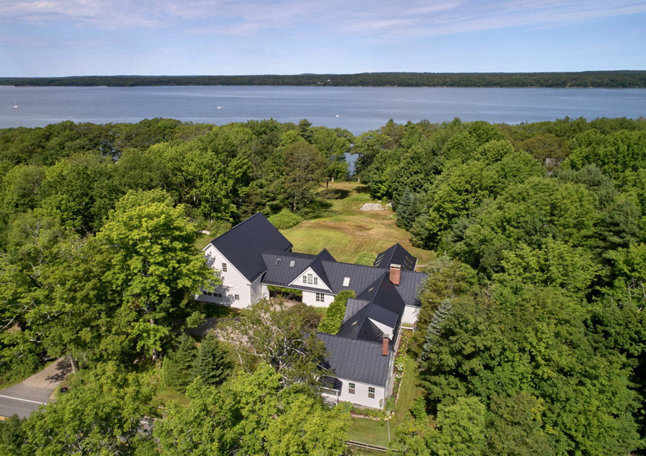 Aerial, 942 Mere Point Road, Brunswick, ME