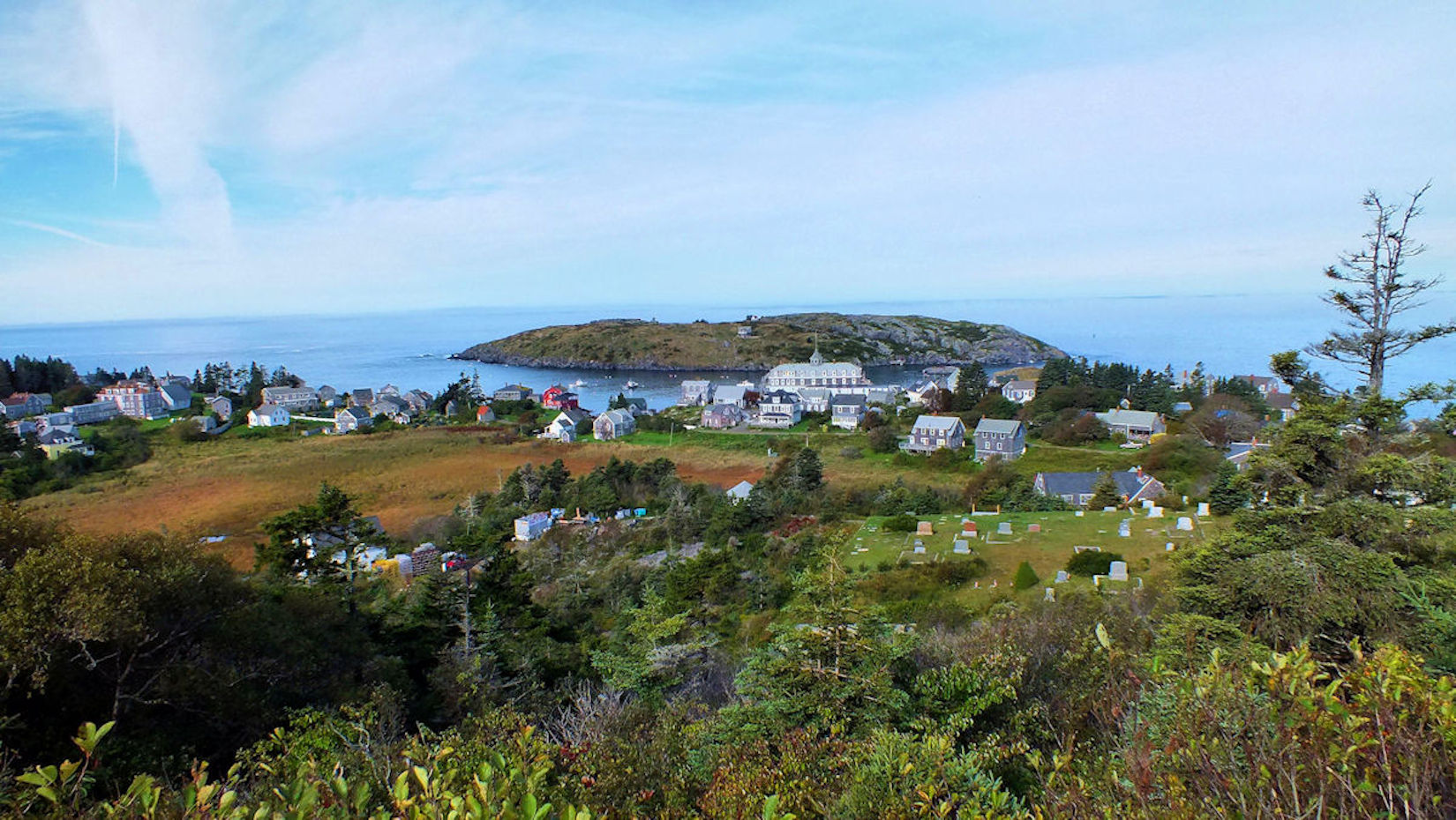 Muscongus Bay, Maine. Monhegan Island