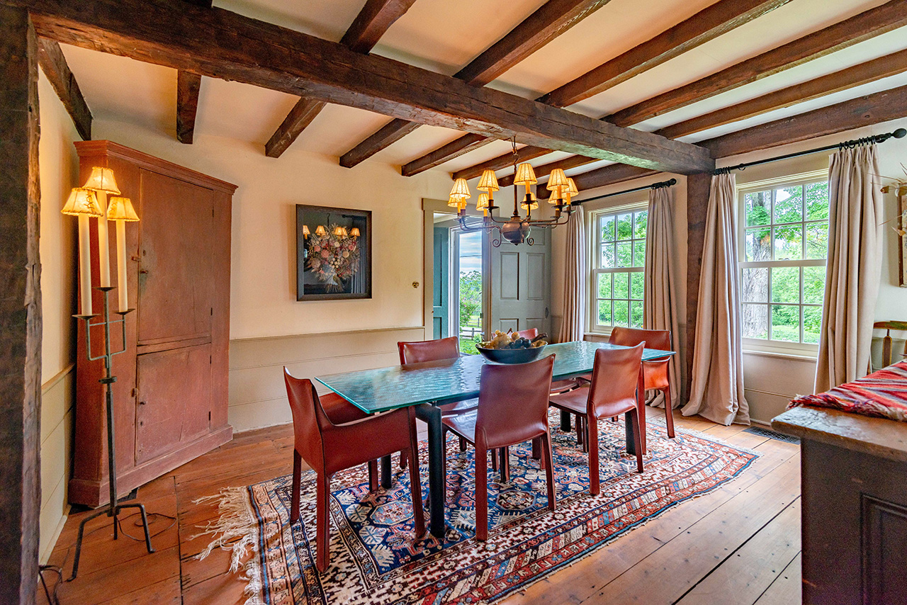 vermont farmhouse for sale - dining room