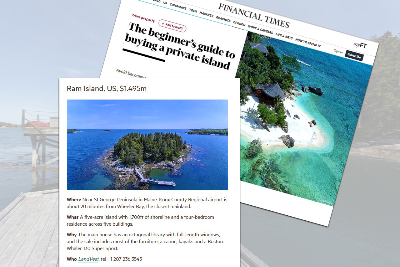 Ram Island. in Financial Times