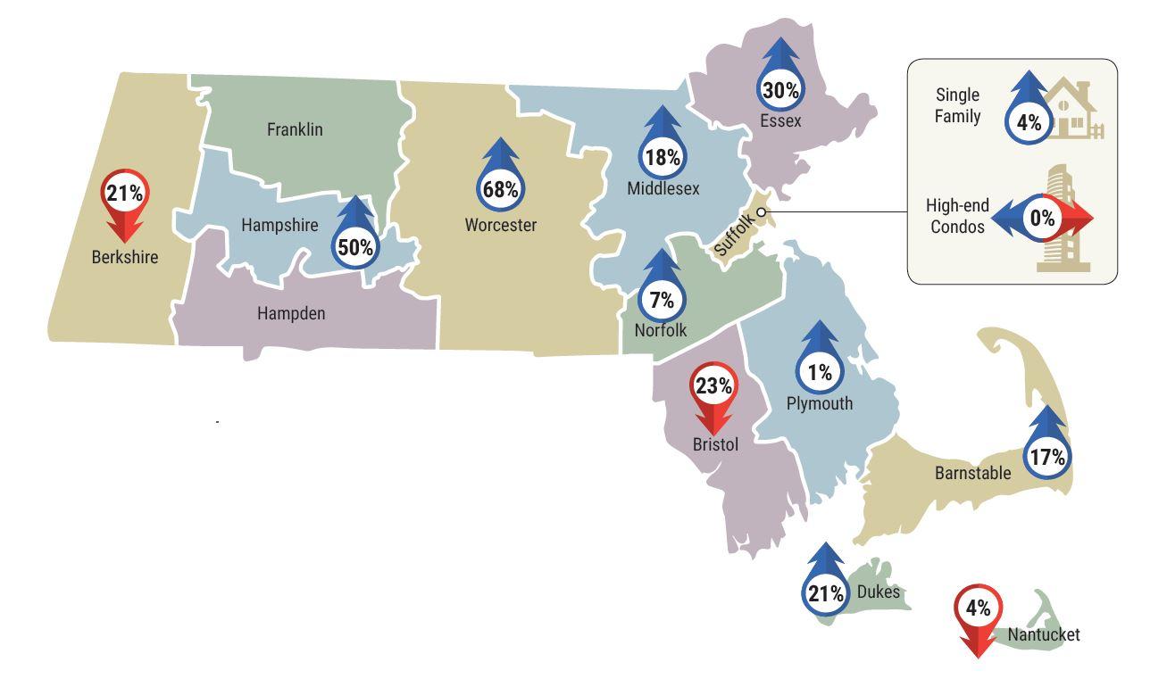 LandVest Real Estate Index. MA map