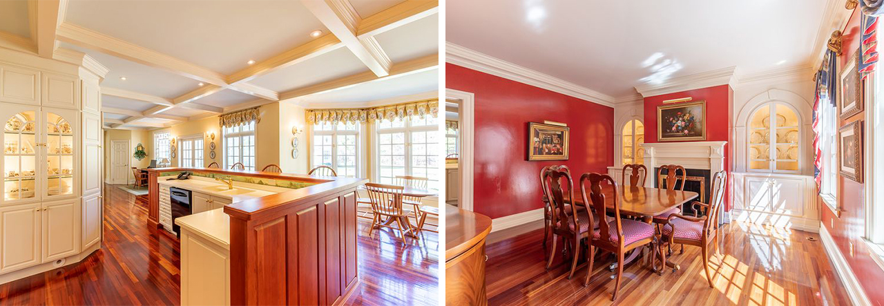 Norwell. MA  real estate for sale Kitchen Dining RM