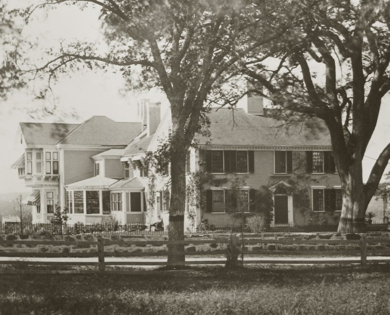 Lawrence homestead, exterior 1881