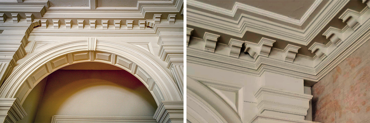Lawrence homestead - Moulding