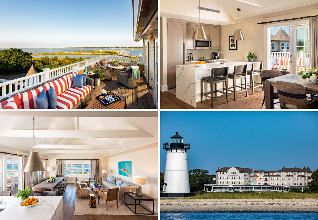 Located at the top of the Historic Building, Harbor View Hotel's Presidential Skyhouse offers the ultimate in luxury accommodations, presented by LandVest's Martha's Vineyard team.