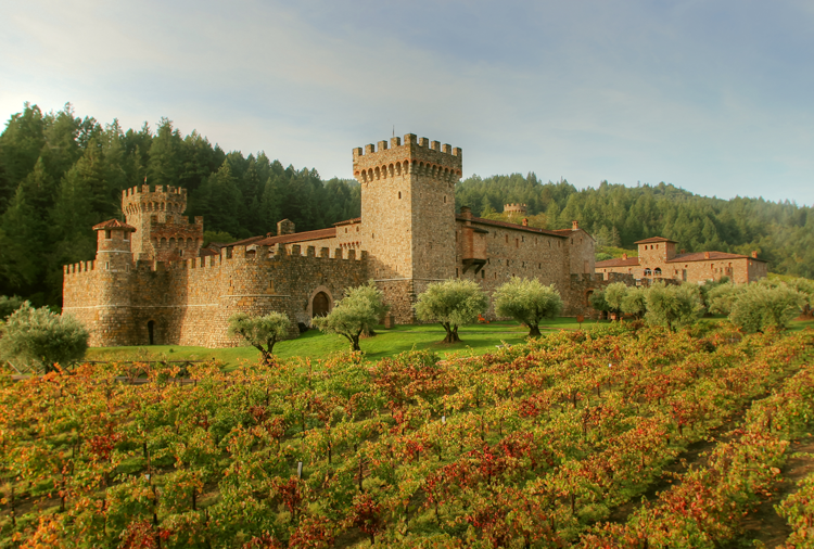 Castello di Amaretto winery Napa Sonoma Fall Color