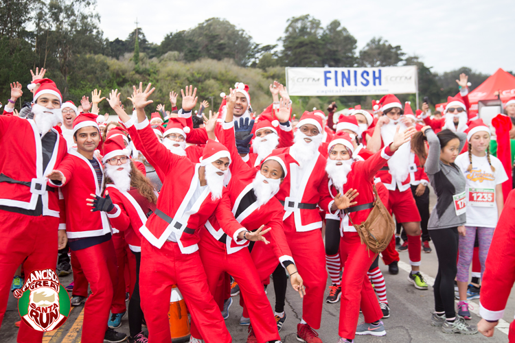 San Francisco Great Santa Run 5K Race Holiday Events