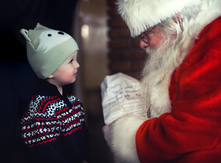 Where to visit see Santa Claus in San Francisco Bay Area