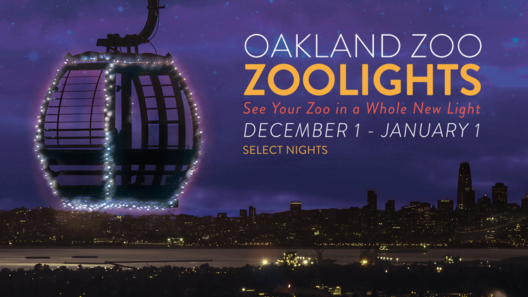 Oakland Zoo Lights San Francisco Bay Area holiday events christmas 2017