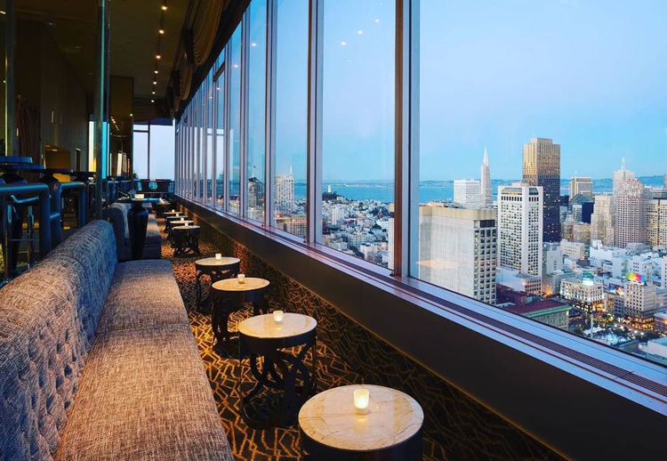 Cityscape Lounge San Francisco restaurants with a view