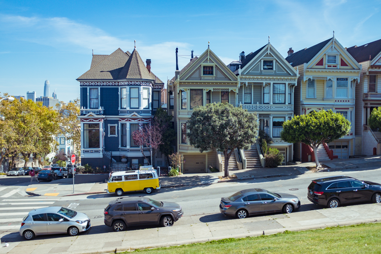 Victorian homes Painted Ladies San Francisco California