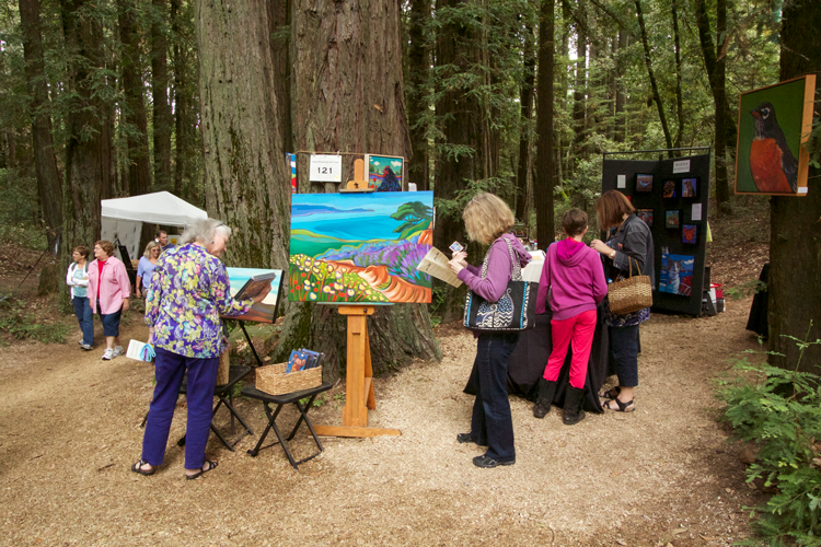Kings Mountain Art Fair Labor Day Weekend events 2018 San Francisco Bay Area
