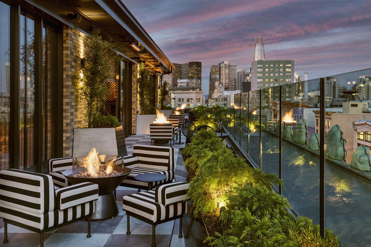 Rooftop bars patios in San Francisco