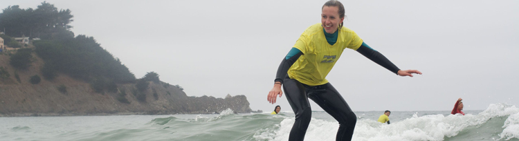 Adventure Out surf lessons in the Bay Area