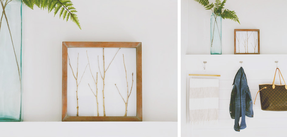 DIY Gold Stick Art Frame