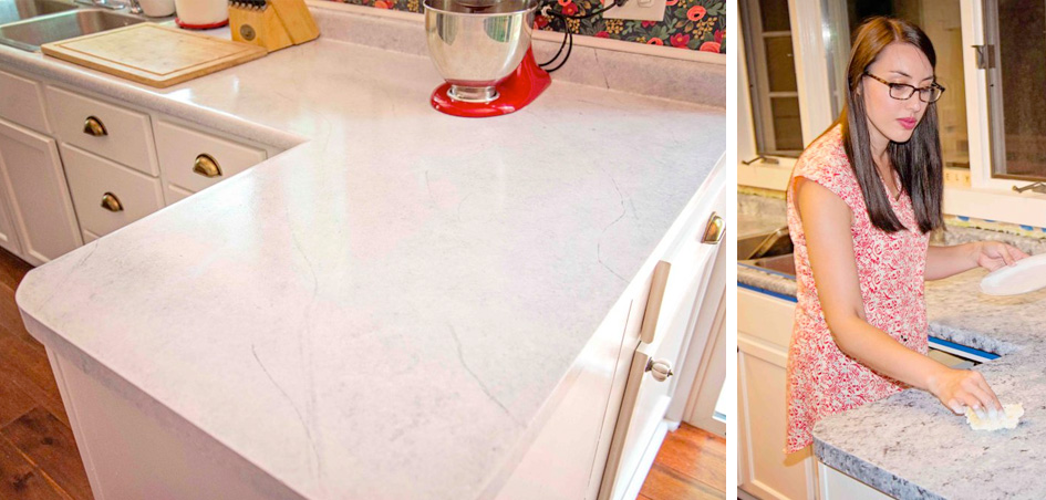 DIY Carrera Marble Countertops