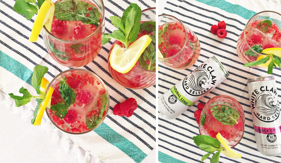 Raspberry Mint Cocktail Low Calorie Drink Recipe