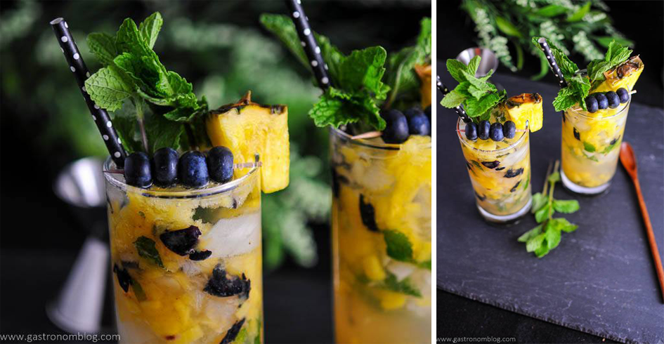 The Gastronum Omaha Bloggers Blueberry Pineapple Mojito Summer Drink Recipes