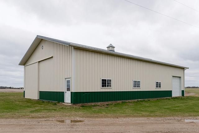 Private 15 acre ranch home in grass lake reinhart reinhart for Pole barn house with basement