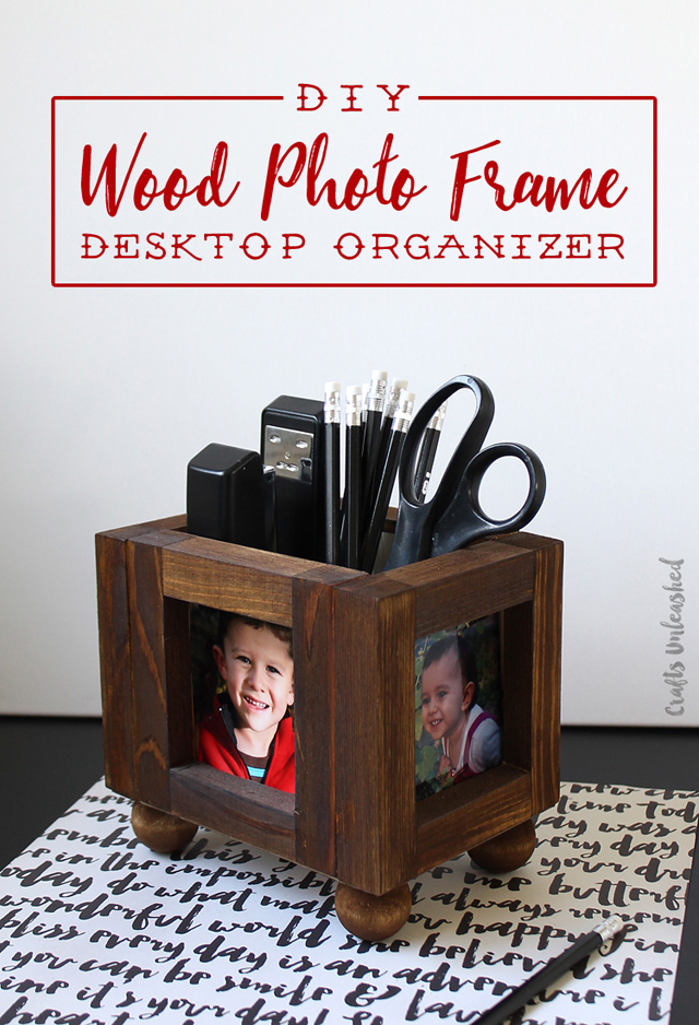 DIY Desk organizer- by ConsumerCrafts
