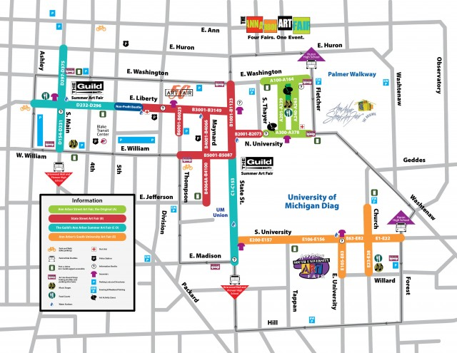 4 Fairs Art Fair Map