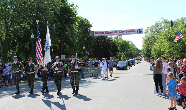 Dexter Michigan Memorial Day parade Memorial Day events 2018