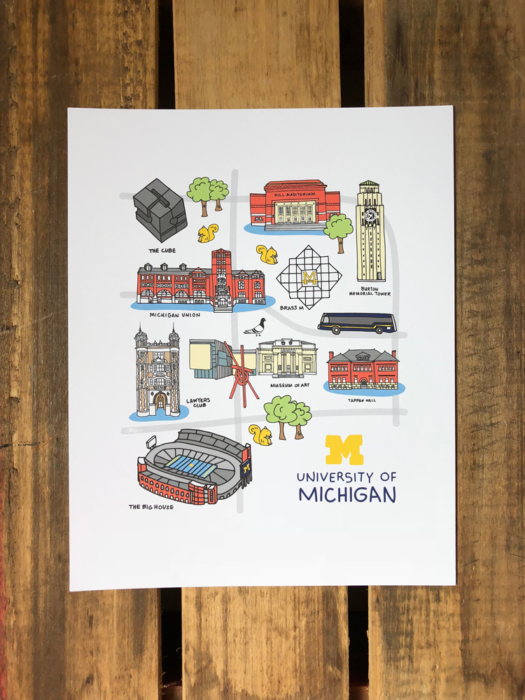 Michigan art Etsy shops