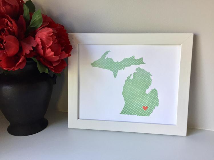 Michigan art Etsy shops