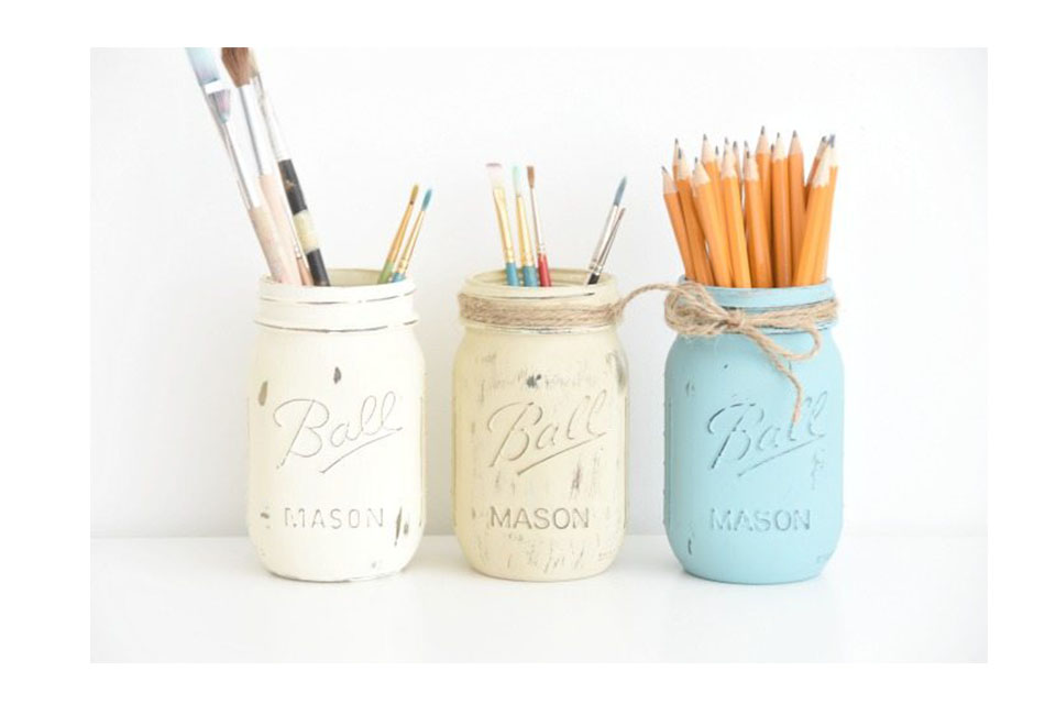 Painted Mason Jars Containers
